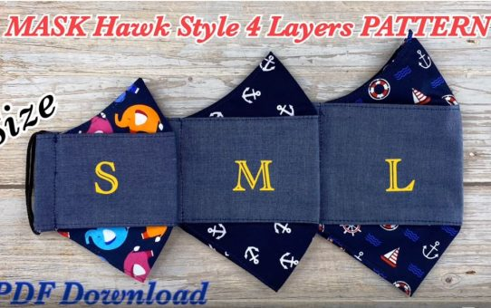 Mask 4 Hawk Style with Filter Pocket