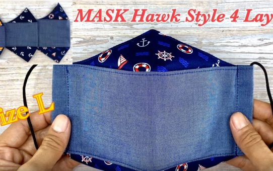 Mask Hawk style 4 Layers Size L With Filter Pocket
