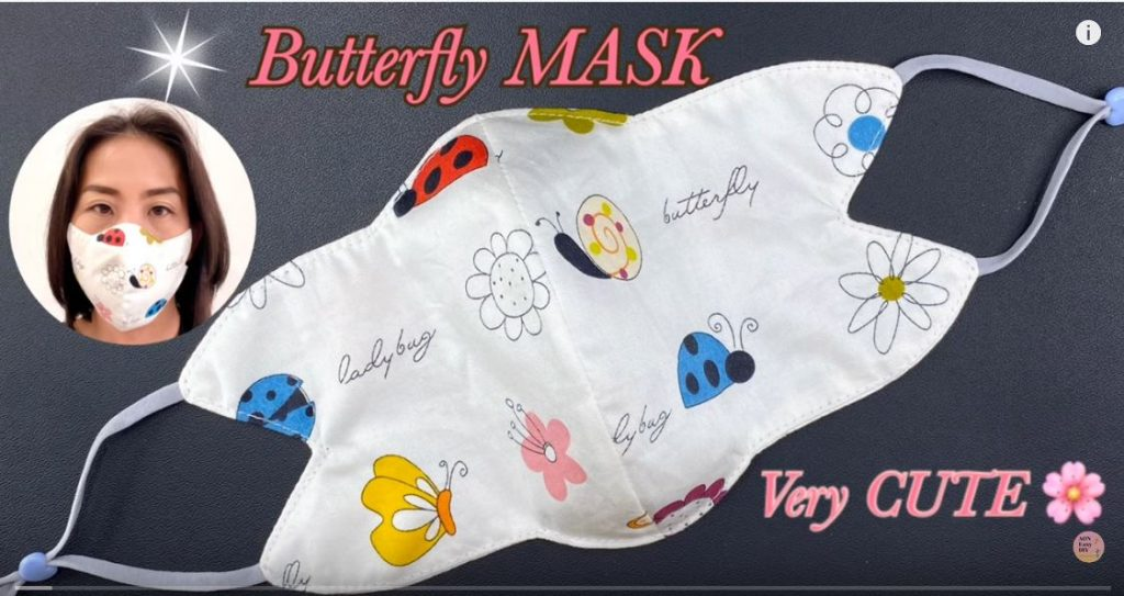 NEW Design DIY BUTTERFLY Face Mask