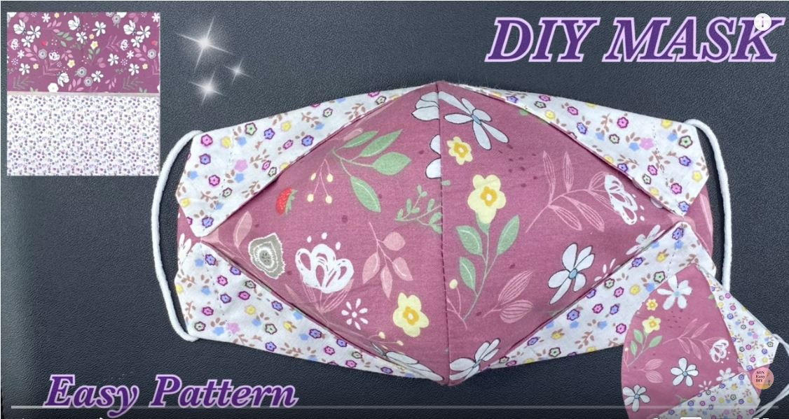 Cloth Face Mask Easy To Make Sewing