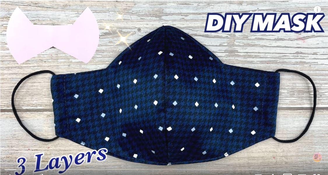DIY Fabric Face Mask 3 LAYERS