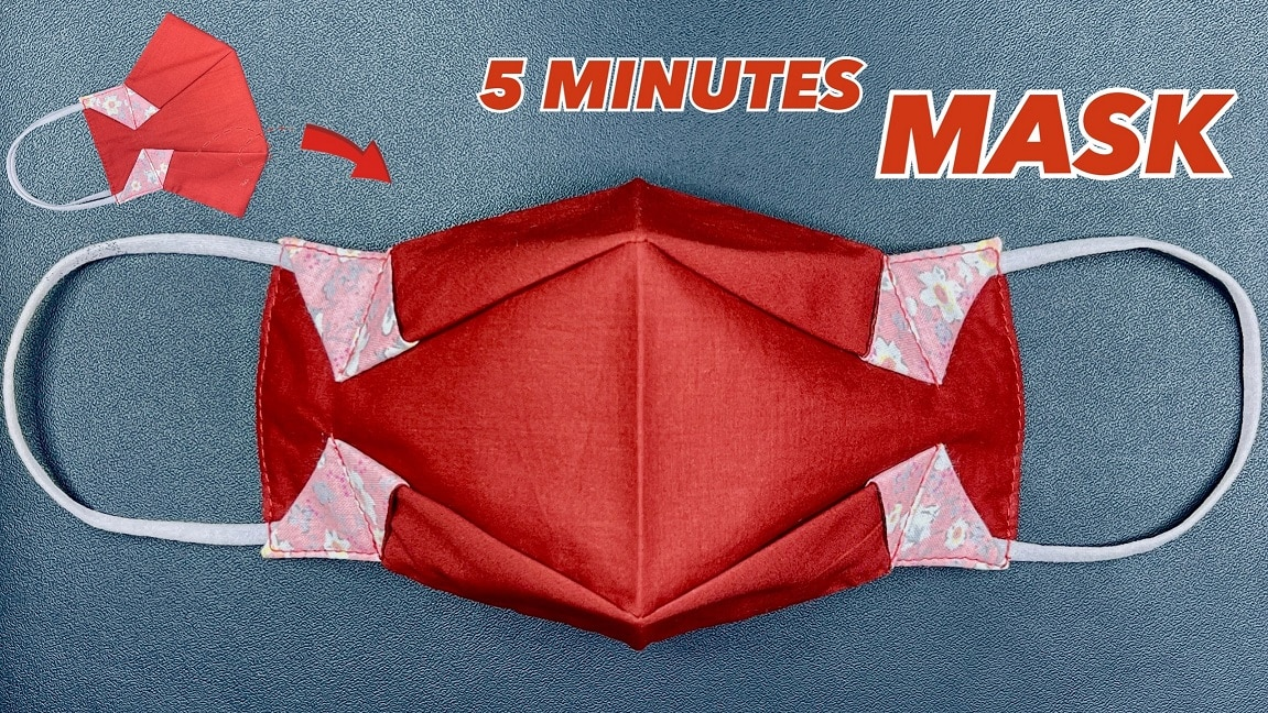 origami mask 5 minutes